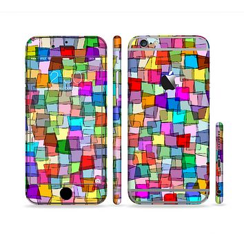 The Vibrant Colored Abstract Cubes Sectioned Skin Series for the Apple iPhone 6 Plus