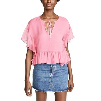 Go with the FLow Ruffle Top