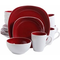 Gibson Home 16-Piece Cadence Square Gray Dinnerware Set - Walmart.com