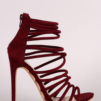 Shoe Republic LA Strappy Open Toe Stiletto Heel