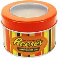 Mostly Memories Hershey's Reeses 5-Ounce Window Tin Soy Candle