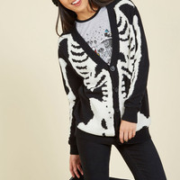 Show and Skeleton Cardigan | Mod Retro Vintage Sweaters | ModCloth.com