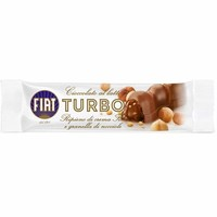 Majani FIAT Turbo Milk Chocolate Bar with Gianduia & Hazelnut Chips 1.2 oz. (35g)