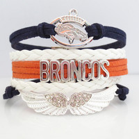 Love Denver Broncos Football Magnetic Bracelet - 50% OFF Sale