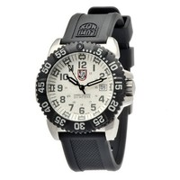 Luminox Colormark White Dial Black Rubber Strap Mens Watch 3157
