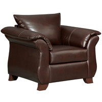 Exceptional Designs Taos Mahogany Leather Chair