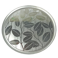 Aluminum Serving Tray, Etched Leaves, Silhouette 1261, A Canadian Original