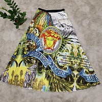VERSACE Summer Popular Women Casual Print Skirt