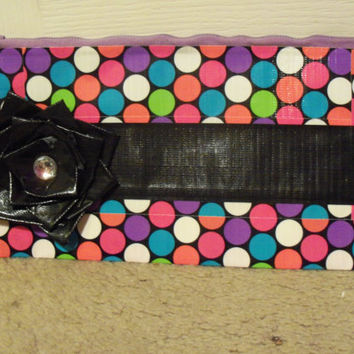 duct tape flower clutch purse