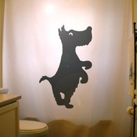 Scottish Terrier Shower Curtain Scottie Dog Scotty black Puppy Aberdeen Dogs pet, custom unique Shower Curtains