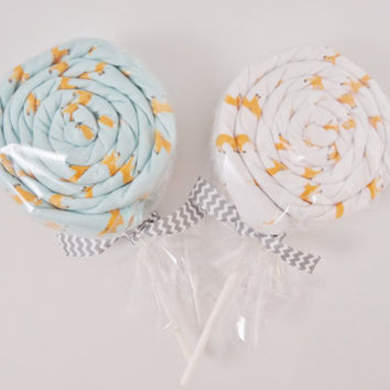 Twins Baby Gift 2 Receiving Blanket Lollipops Gender Neutral