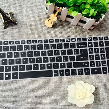 15.6'' silicone Keyboard Protector Cover Skin for Acer Aspire E15 E5 575G E5-575G V3-574G TMTX50 TMP259 F5 573G E5 552G 553G