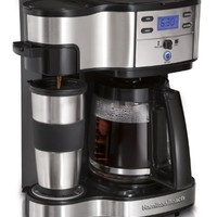 Hamilton Beach 49980Z Two Way Brewer Single Serve and 12-cup Coffee Maker, Stainless Steel | Best Product Review