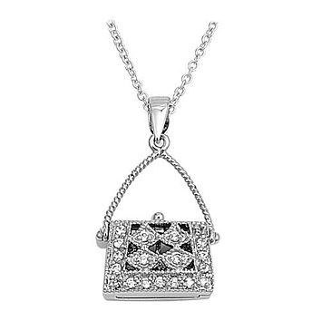 1.5TCW Pave Russian Lab Diamond Necklace Pendant