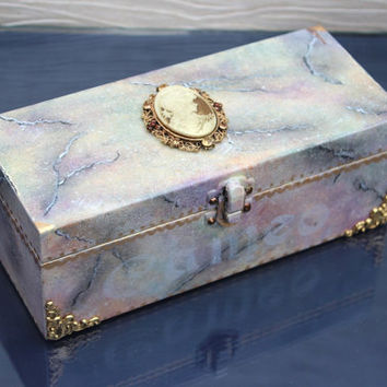 Jewellery Box Cameo Treasure Keepsake Box Elegant Jewelry