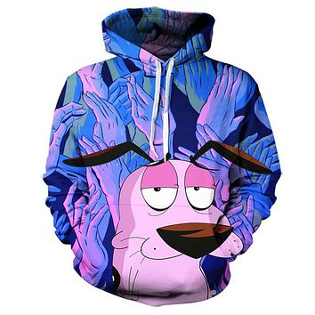 Courage The Cowardly Dog Hoodie