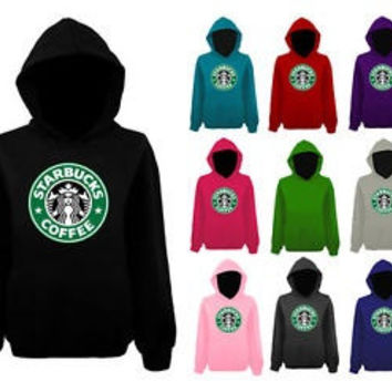Starbucks coffee  sweatshirt jumper pullover tops unisex xs-xl