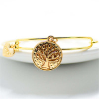 Fashion Womens Gilrs Elegant Casual Adjustable Love Tree Bracelet Gift
