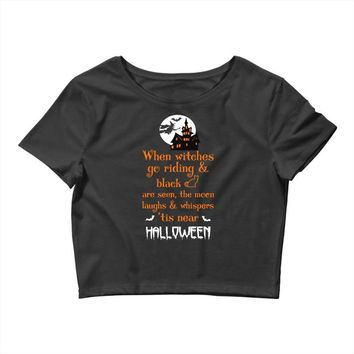 witches halloween Crop Top