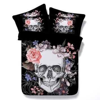 Unique Design 3D Skull Bedding Sets Sugar Skulls Duvet Cover Bedding Sets RU US Europe Twin Queen King Size Beddings Hot Sale