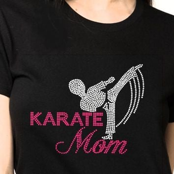 Rhinestones-Bling T-Shirts | Women Karate-Rhinestones-Shirt