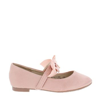 Satin Bow Kids Flat (MAUVE)
