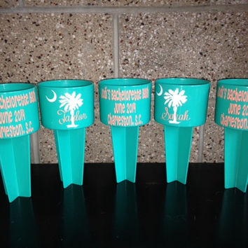 Personalized Spiker Beach Cup Holder From Swirly Twirly Designs