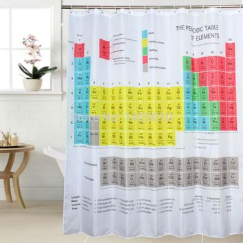 Fabric Polyester The Big Bang Periodic Table Waterproof Shower Curtain Bathroom Curtains size 180x180cm