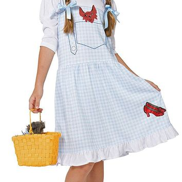 Intimo Little Girls' Wizard of Oz Dorothy Costume Fantasy Nightgown With Ruby Slippers