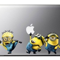 3 Minions Despicable me decals for MacBook Pro Air