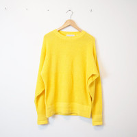 Vintage Yves Saint Laurent Canary Yellow Sweater 162