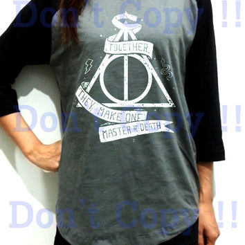 Deathly Hallows Snake Harry Potter Unisex Men Women Dark Gray Long Sleeve Baseball Shirt Tshirt Jersey