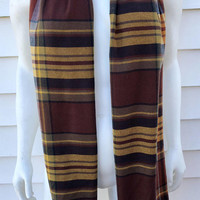 Brown Men's Flannel Plaid Scarf-Winter Scarf-Handmade Accessories-Gifts For Him-Stocking Stuffer-Toddler Boys Scarf-Kids Plaid Scarf