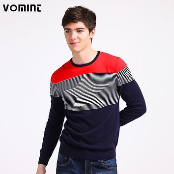 VOMINT 2017 Mens Knitted Sweaters Preppy Style Youth Pullovers Slim Regular Stars Pattern High Quality H6PI6403