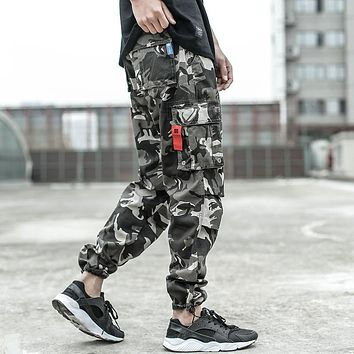 Men's Casual Pants Street Youth Style Jogger Pants Loose Fit Jeans Cargo Pants