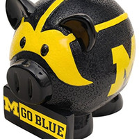 NCAA Michigan Wolverines Resin Thematic Piggy Bank, Small