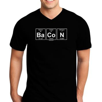 Bacon Periodic Table of Elements Adult Dark V-Neck T-Shirt by TooLoud