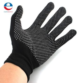 NEW 2 Pair 2 Colors Hair Straightener Perm Curling Hairdressing Heat Resistant Finger Glove Free Shipping