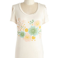 Festival Mid-length Short Sleeves Page-Pressed Flowers Tee