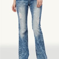 Heavy Sandblasted Boot Cut Jean in Curvy Short