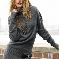 Leather Buckle-wrap Turtleneck Sweater - Victoria's Secret