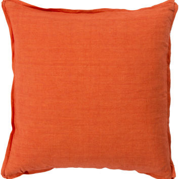 Surya Solid Throw Pillow Orange