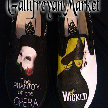 Custom Hand Painted Wicked and Phantom Vans