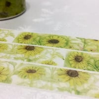Sun flower washi tape 10M  sunflower masking tape lovely yellow flower sticker tape blossom flower decor flower diary planner scrapbook
