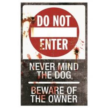 Halloween Metal Sign-Do Not Enter