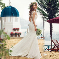 fashion lace Halter slim bride wedding dress 2015 new
