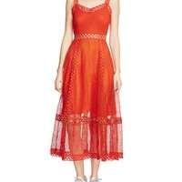 Maje Rita Lace Midi Dress | Bloomingdales's