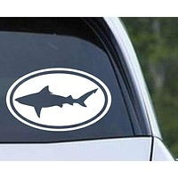 Shark (04) Bull Euro Oval Die Cut Vinyl Decal Sticker
