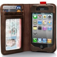 Apple Iphone 4 / Iphone4s Leather Read BookBook Case