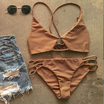 New Brand Two Pieces Swimsuit Bikini Set